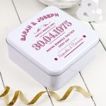 Typographic Anniversary Keepsakes Tin