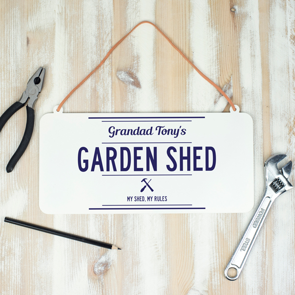 Personalised Hanging Metal Shed Sign - Delightful Living