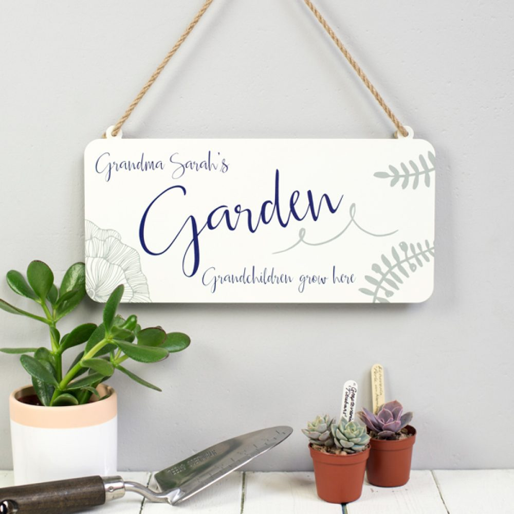 Personalised Botanical Garden Sign
