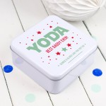 Personalised Yoda Best Daddy Star Wars Tin