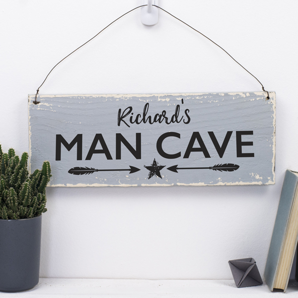 Man Cave Gifts Uk : Personalised man cave sign delightful living