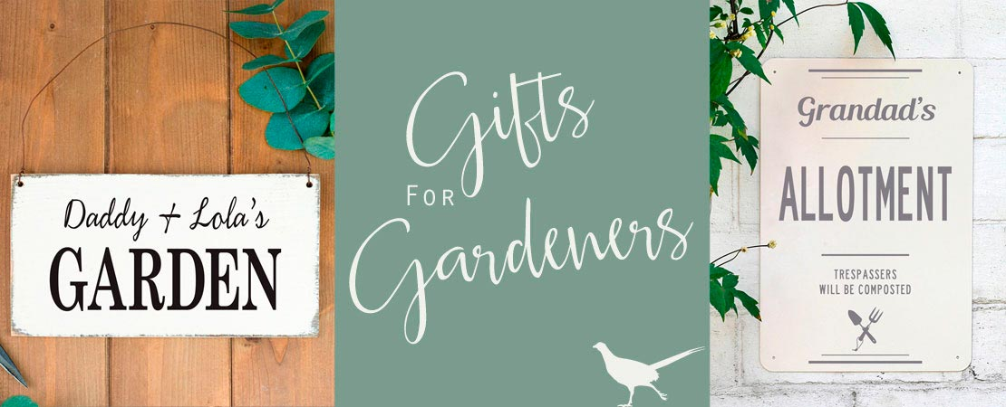 Personalised gifts for Gardeners