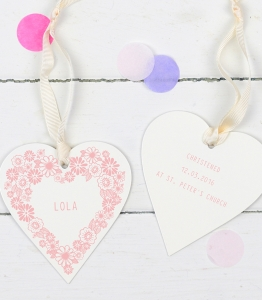 Personalised baby gifts archives delightful living personalised baby keepsake enamel heart negle Gallery