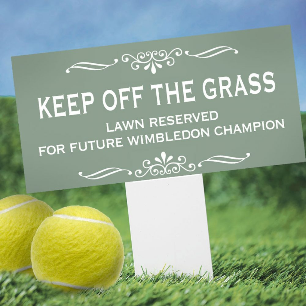 Personalised Keep Off The Grass Sign