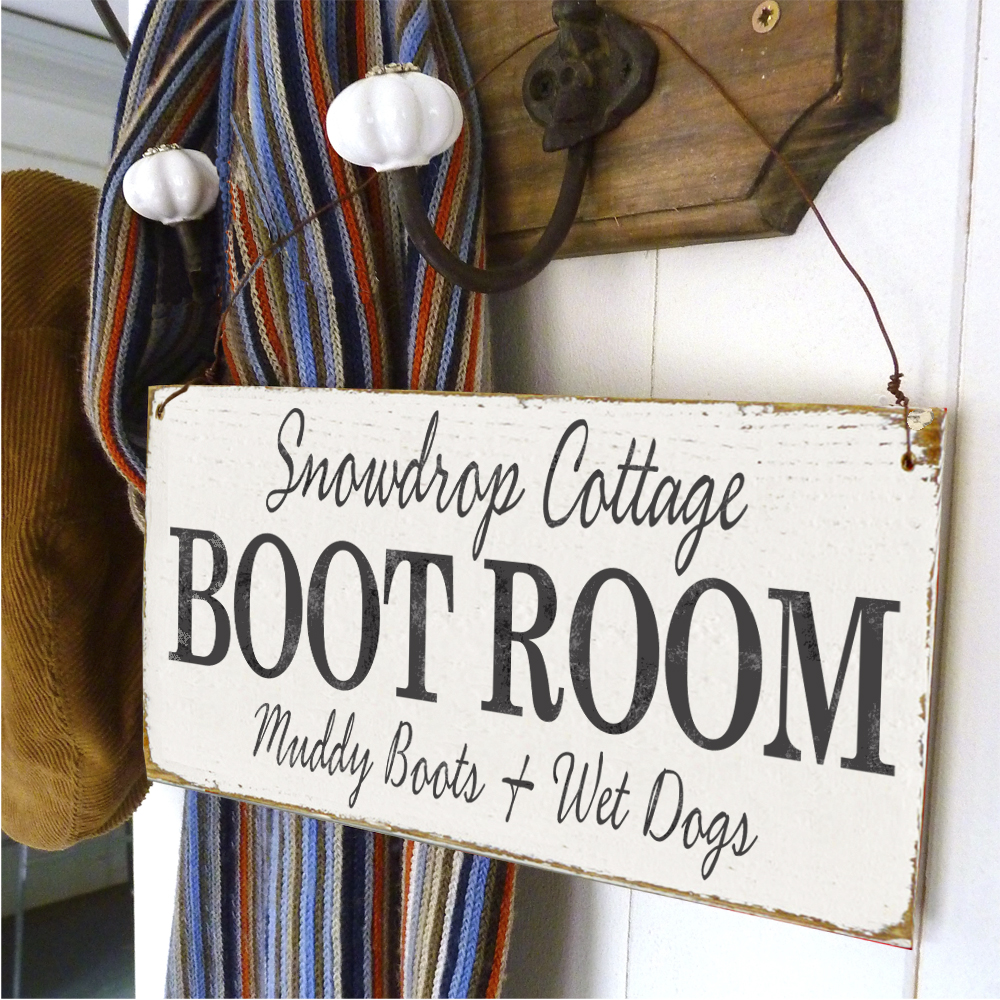 Boot Room sign