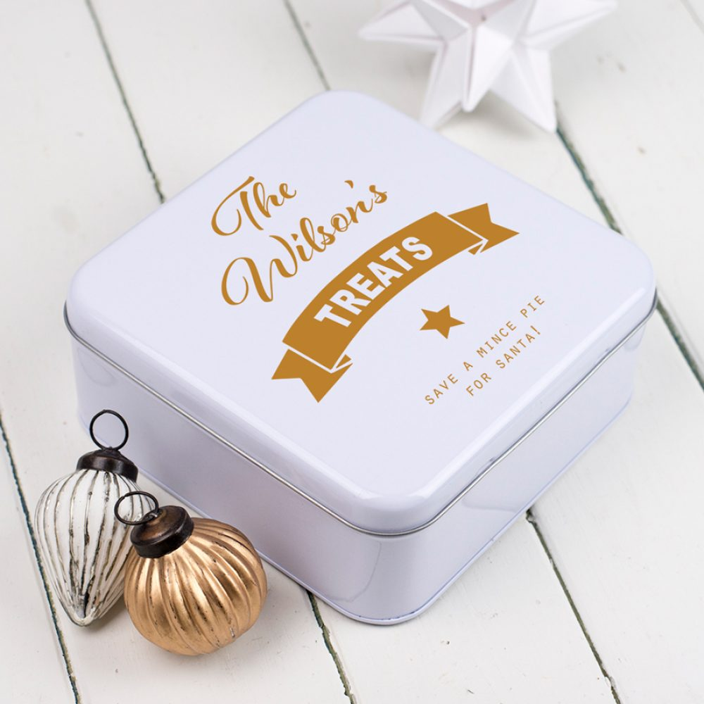 Personalised Christmas Treats Tin