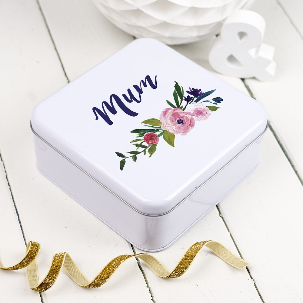 Personalised Floral Name Tin