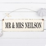 Personalised Mr & Mrs Sign