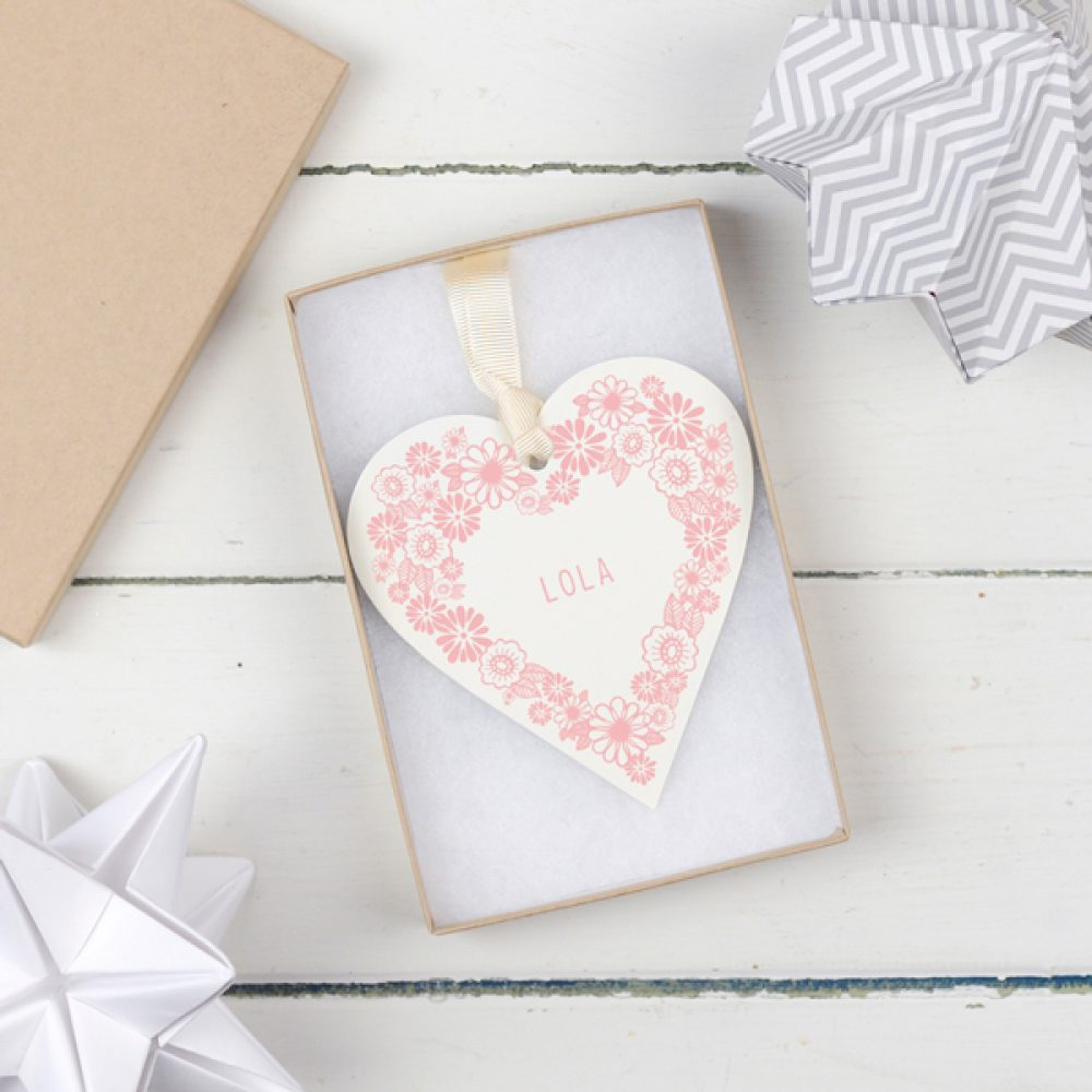 Christening Keepsake Heart