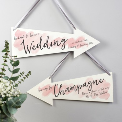 watercolour wedding arrow