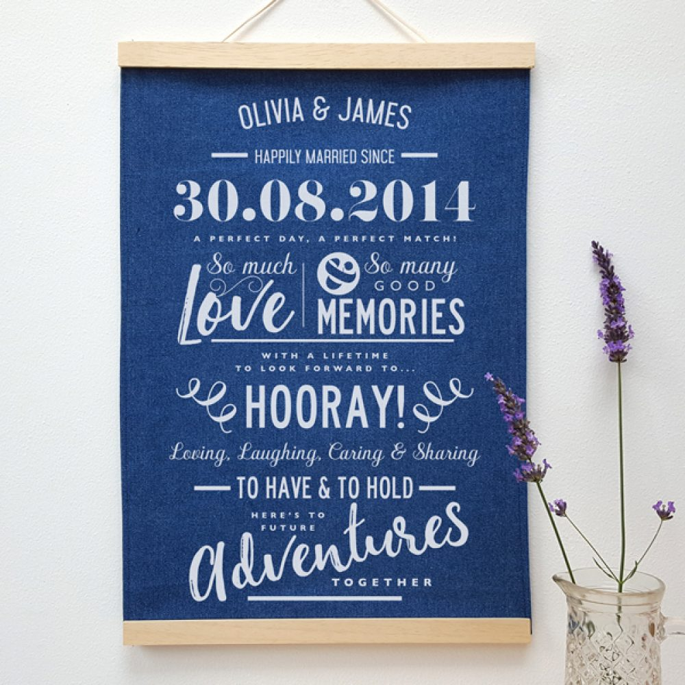 denim cotton anniversary print