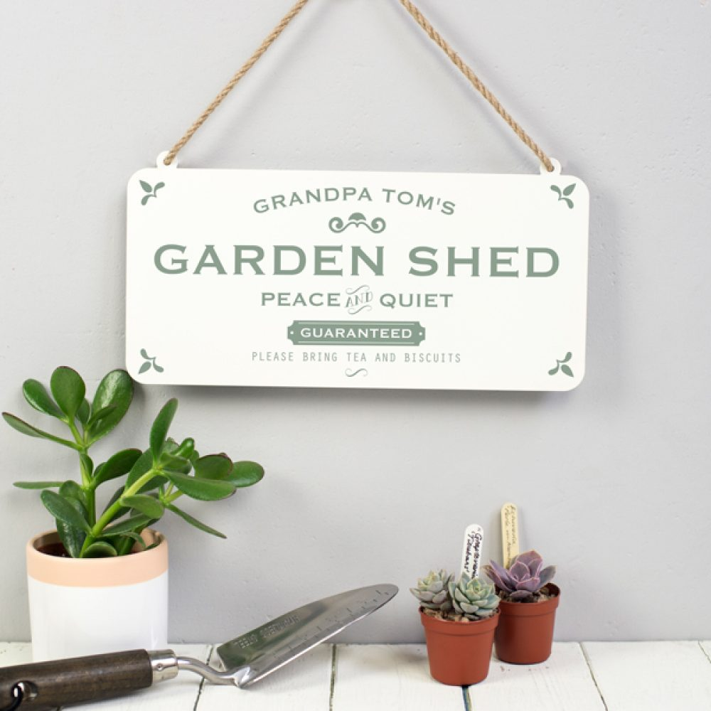 Personalised Hanging Grandad's Shed Sign