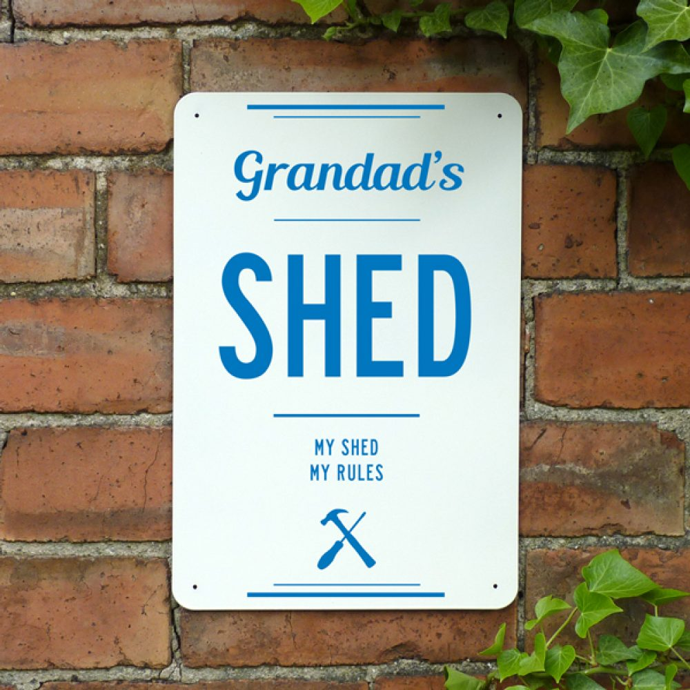 Personalised Shed Metal Sign