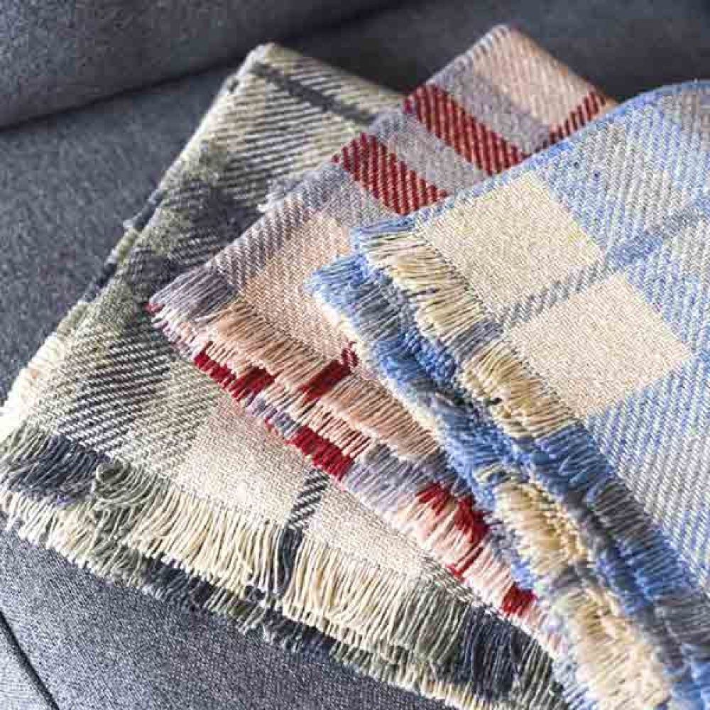 Personalised Blanket check colours