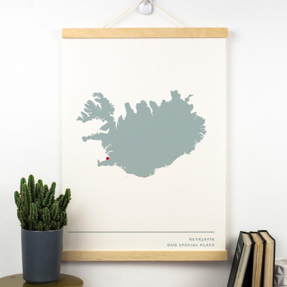 Paper Anniversary Map Print