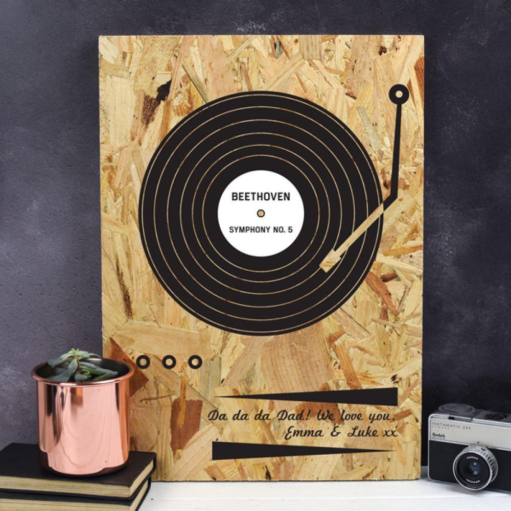 personalised record print