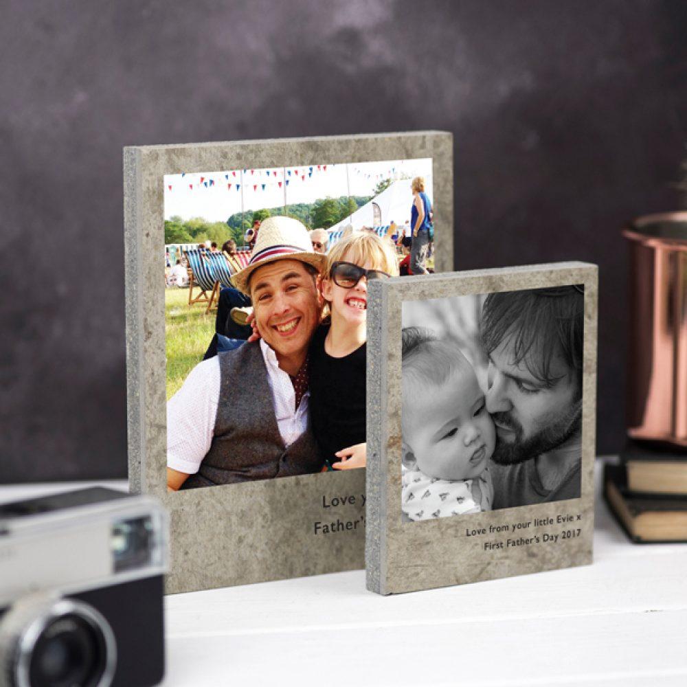 Father's Day Polaroid Photo Print On Concrete