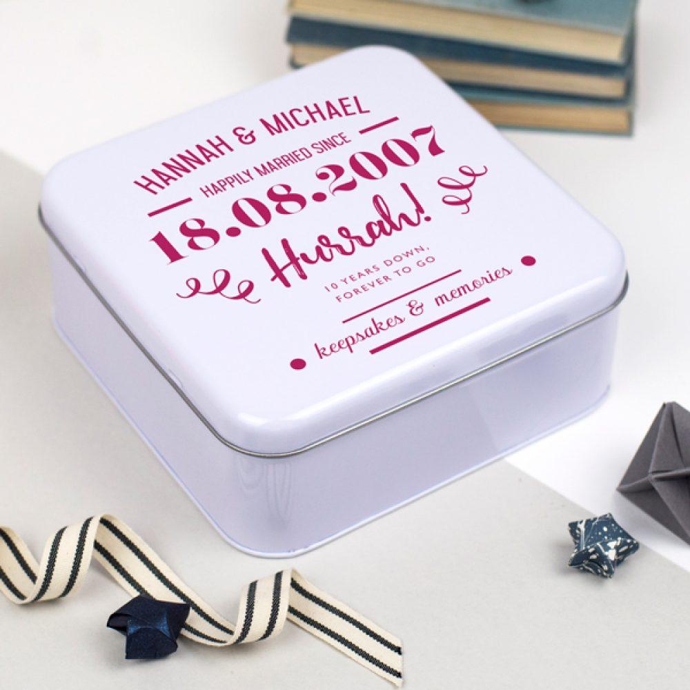 10th anniversary tin box