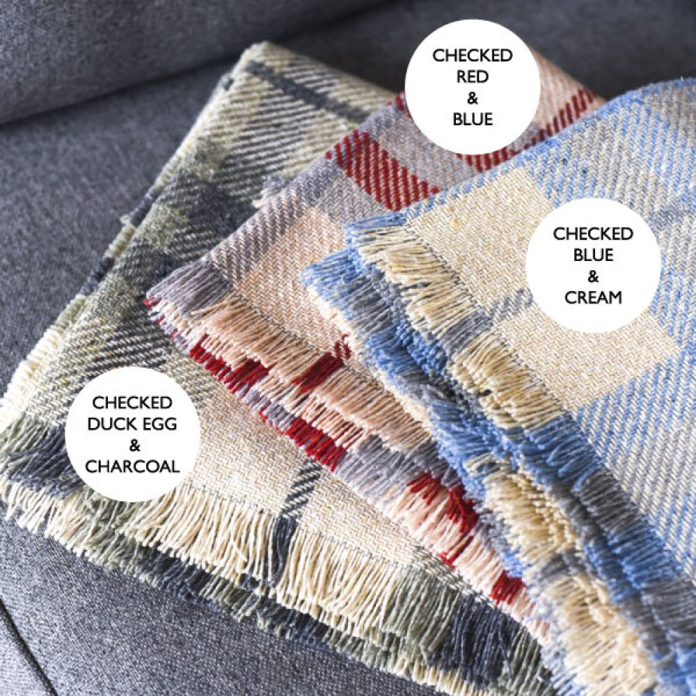 colour options for checked blankets