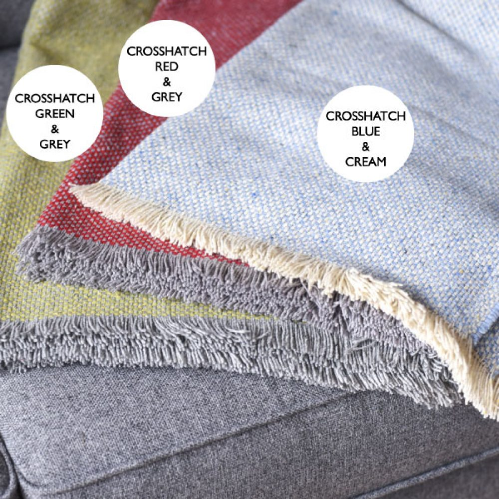 crosshatch blanket colour options