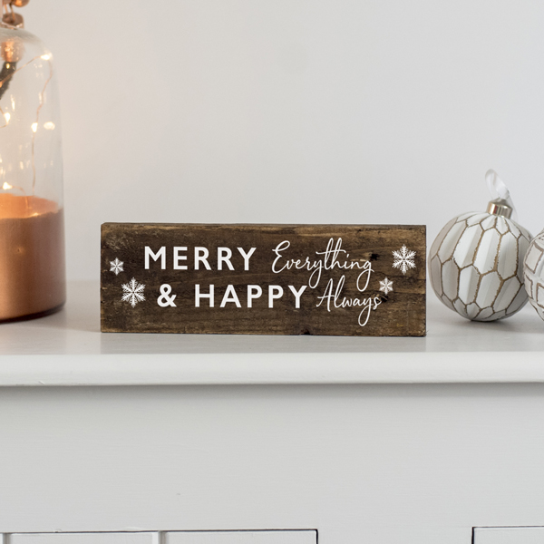 Merry Everything Wooden Sign