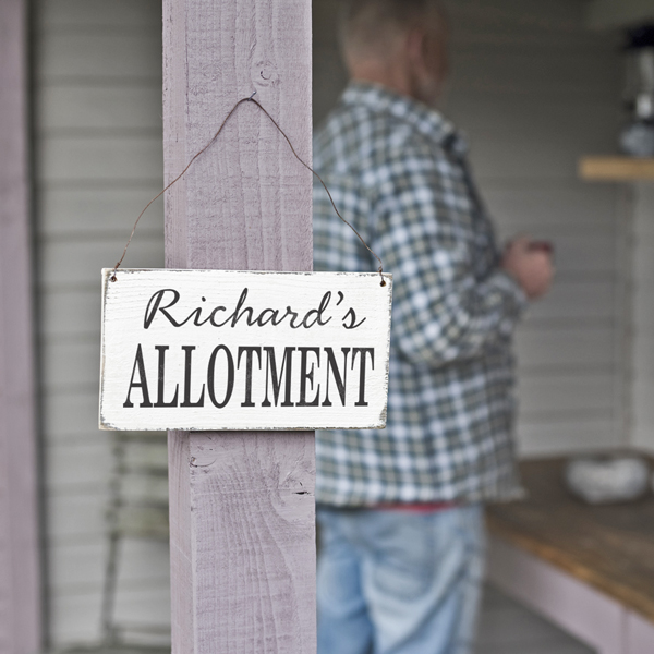 personalised outdoor wooden sign