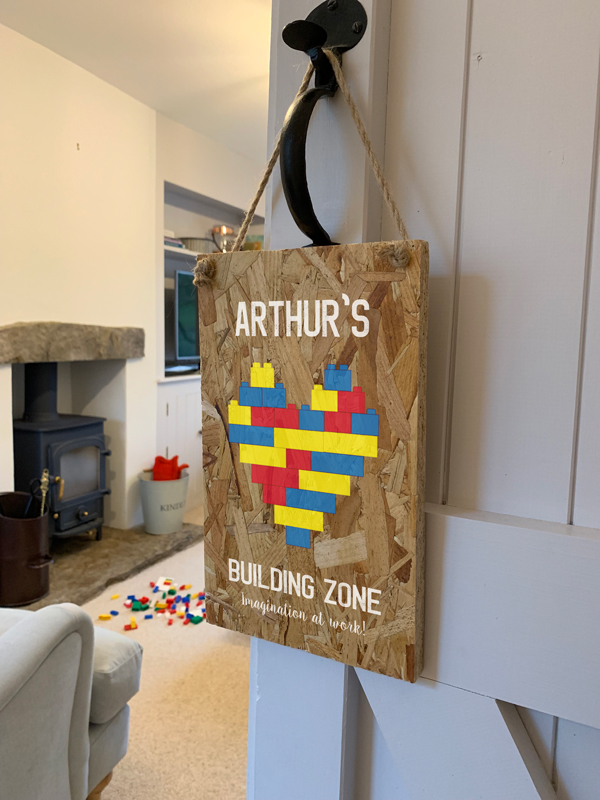 Personalised Building Zone Wooden Sign