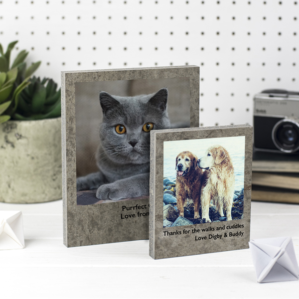Personalised Pet Photo Print on Concrete