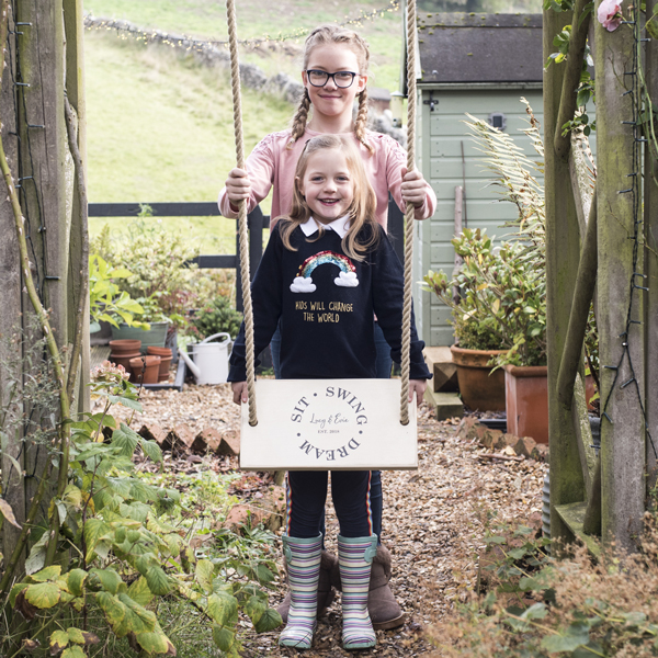 Personalised Wooden Garden Swing