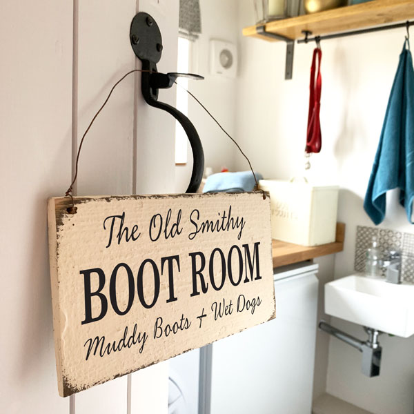 Personalised Boot Room sign