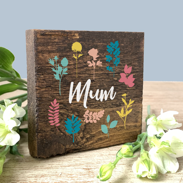 Personalised Mother's Day Keepsake on Reclaimed Wood