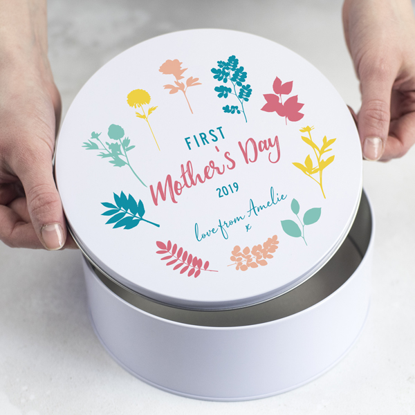 Personalised First Mother's Day Gift Tin