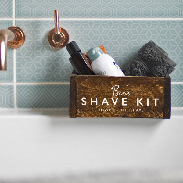 Personalised Men's Grooming Tidy Box