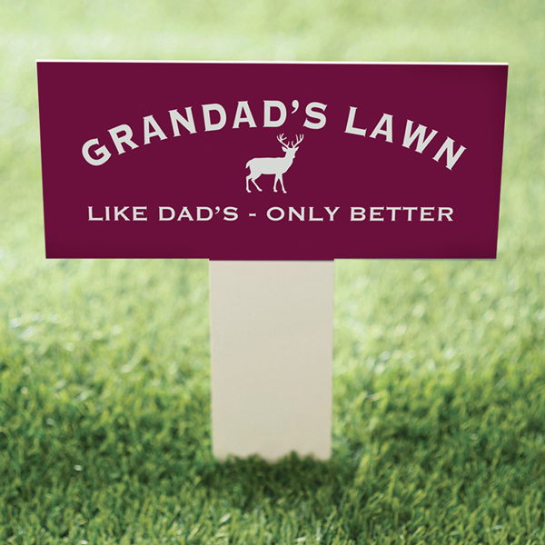Personalised Lawn Sign on a Stake