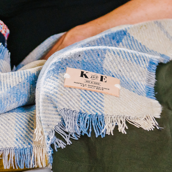 Couples Initialled Blanket or Throw