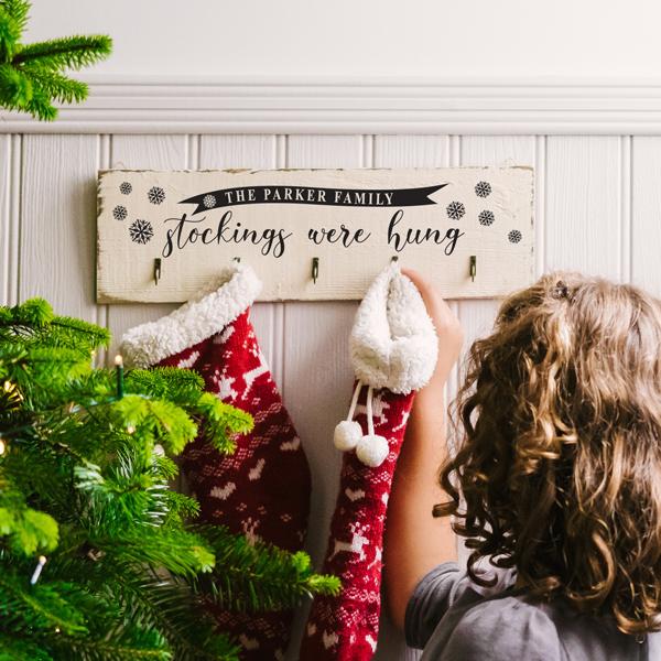 Personalised Classic Christmas Stocking Hooks