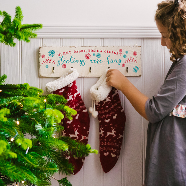 Personalised Vintage Style Christmas Stocking Hooks