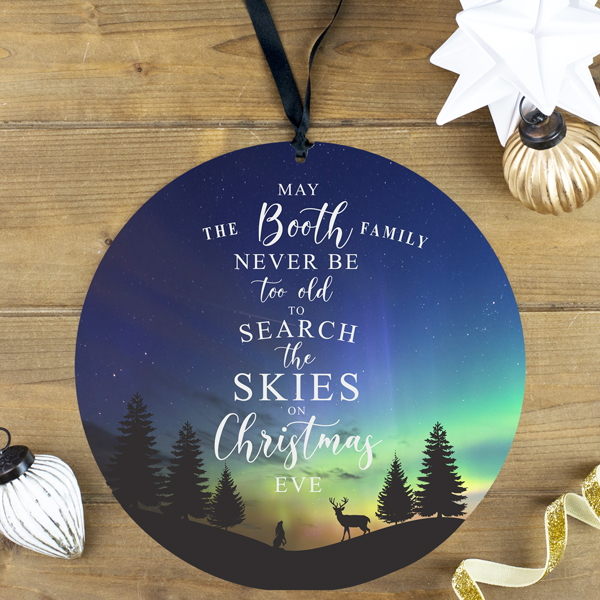 Personalised Family Christmas Eve Decoration