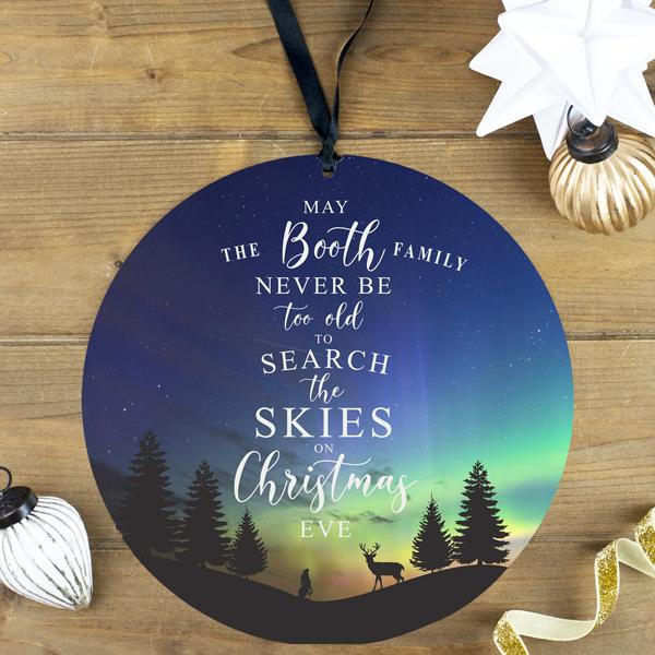 Personalised Family Christmas Eve Decoration