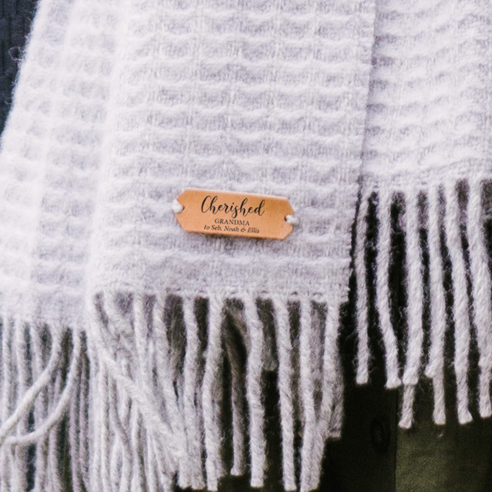 Personalised Pure New Wool Blanket Scarf
