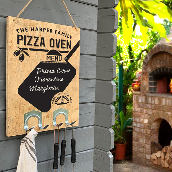 Personalised Pizza Oven Menu