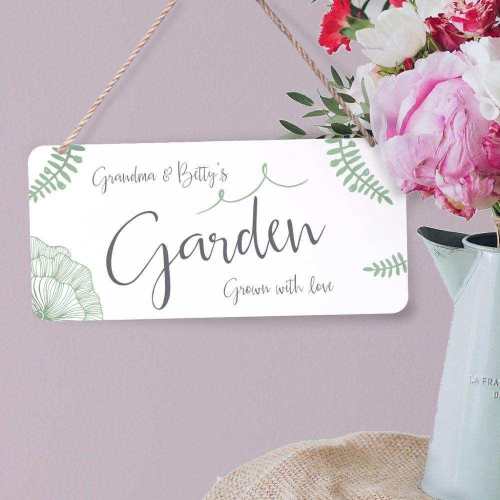Personalised Botanical Metal Garden Sign