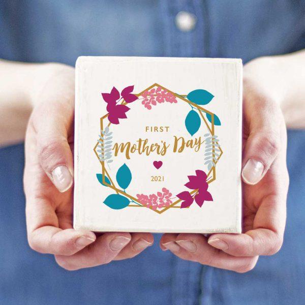 Personalised First Mothers Day Keepsake Block