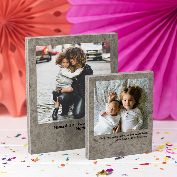 Mother's Day Polaroid photo on Concrete
