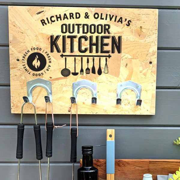 Personalised Outdoor Kitchen Sign
