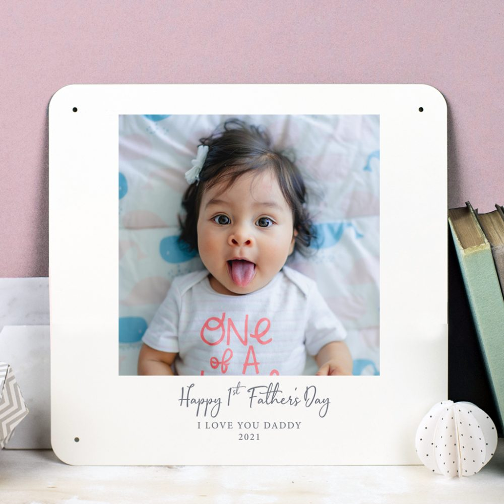 Personalised First Fathers Day photo print