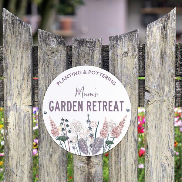 Personalised Wildflower Garden Sign