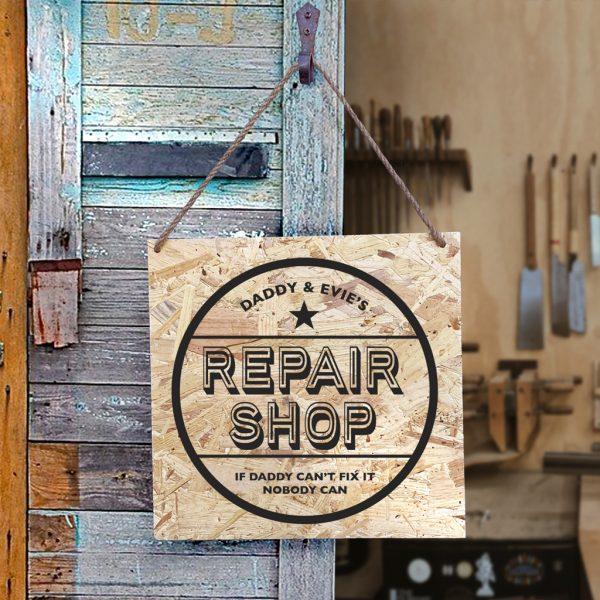 Personalised Repair Shop Sign